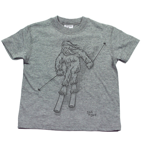 Sasquatch Ski! Kids T Shirt