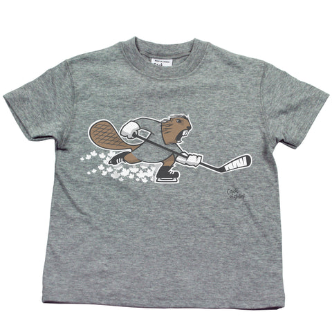 Hockey Beaver Kids T Shirt