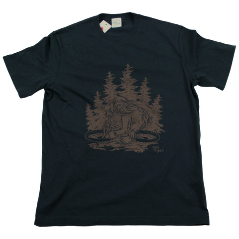 Sasquatch Bike! Men's Black T Shirt