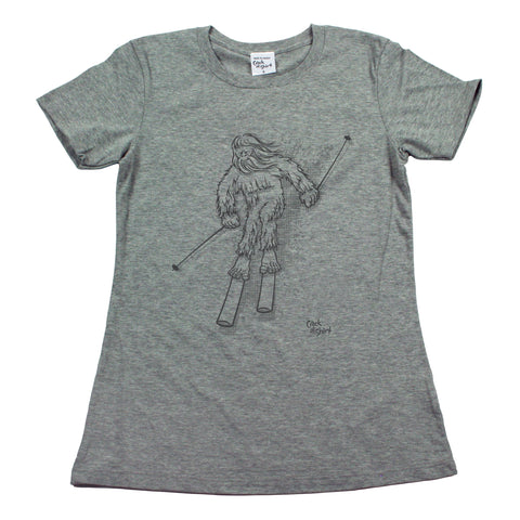 Sasquatch Ski! Women's T Shirt
