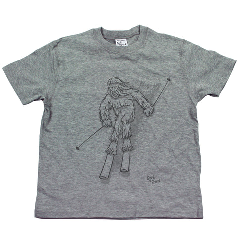 Sasquatch Ski! Youth T Shirt