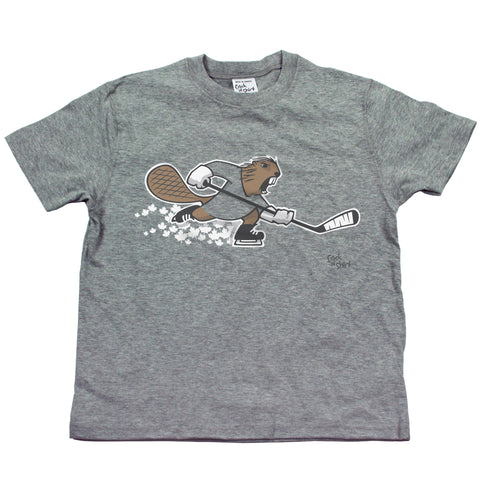 Hockey Beaver Youth T Shirt