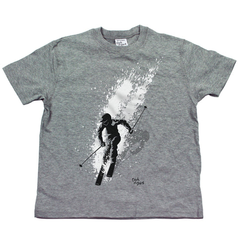 Skier Youth T Shirt