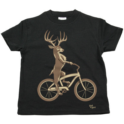 Deer Bike Kids T Shirt