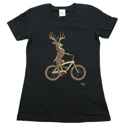 Deer Bike Women's T Shirt