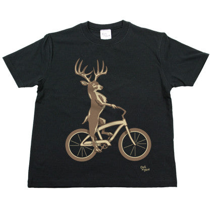 Deer Bike Youth T Shirt