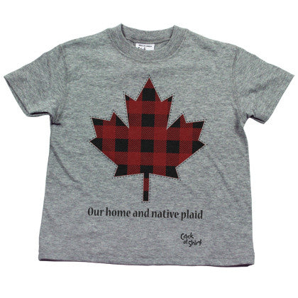 Our Home and Native Plaid Kids Tee Shirt
