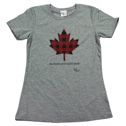 Our Home and Native Plaid Women's T Shirt