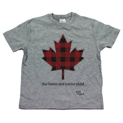 Our Home and Native Plaid Youth Tee Shirt