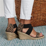 Faddishshoes Summer Round Toe High Heel Wedge Casual Ladies Sandals