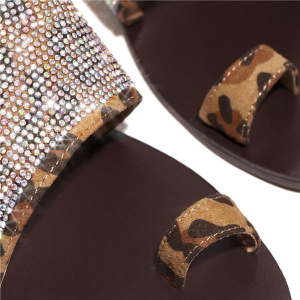 Faddishshoes Haute Heat - Leopard Slippers