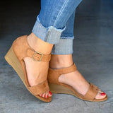 Faddishshoes Daily Comfy Low Heel Wedge Sandals