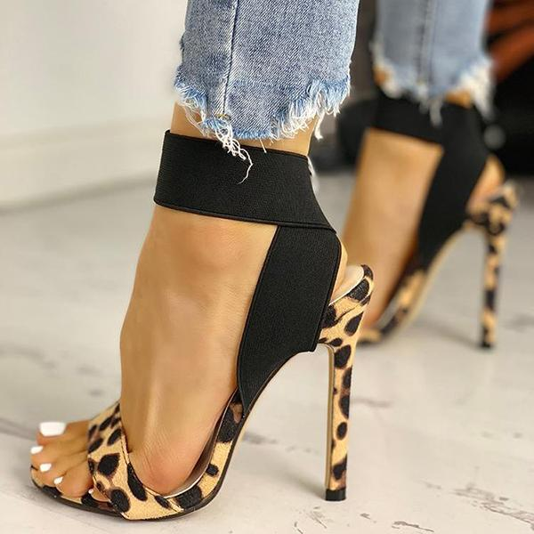 Faddishshoes Leopard Fashion Women Sandals
