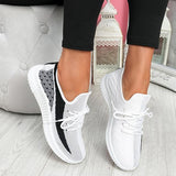 Faddishshoes Breathable Lightweight Lace-Up Sneakers