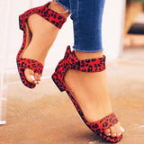 Faddishshoes Stylish Casual Open Toe Bag Heel Sandals