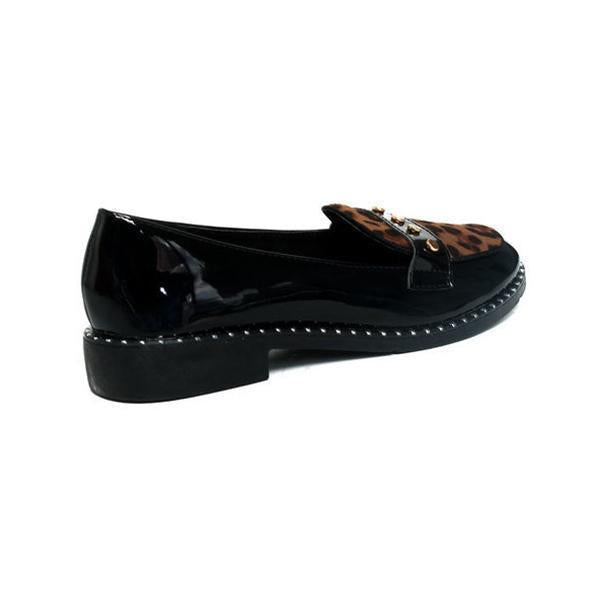 Faddishshoes Tris Patent Slip-On Flat Loafers
