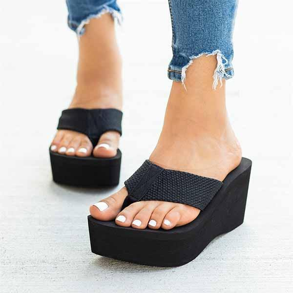 Faddishshoes Flip-flops Foam Wedge Heel Sandals