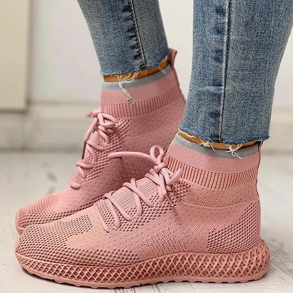 Faddishshoes Breathable Lace-up Casual Socks Sneakers