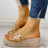 Faddishshoes Transparent Espadrille Platform Sandals