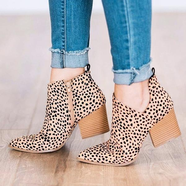 Faddishshoes Marie Leopard Outside Cutouts Cheetah Boots