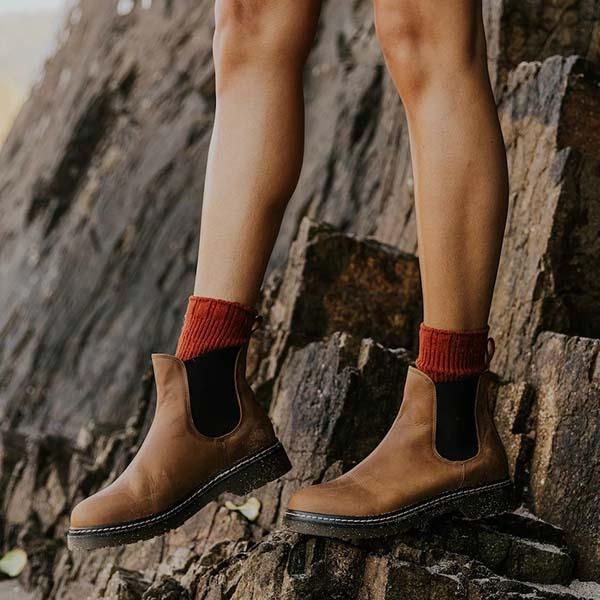 Faddishshoes Artificial Leather Chelsea Boots