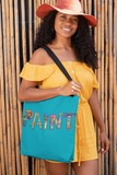 PAINT Tote Bag - Cyan