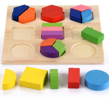 Load image into Gallery viewer, 3D Puzzle Wooden Toys Colorful Geometry Shape