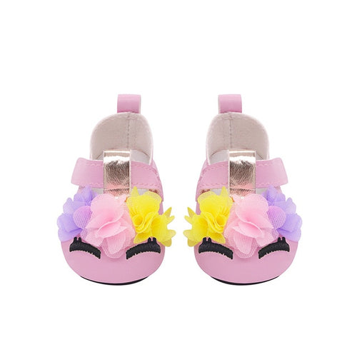 Baby Doll Accessories Leather Cartoon Shoes
