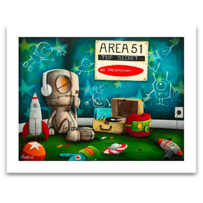 Fabio Napoleoni Let Me Play Among the Stars Limited Edition Paper Giclee