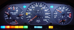 Vintage Mercedes Instrument Cluster Lighting Upgrade LED