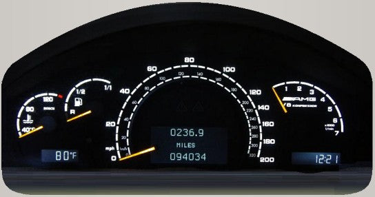 Mercedes W220 Instrument Cluster Lighting Repair and Upgrade