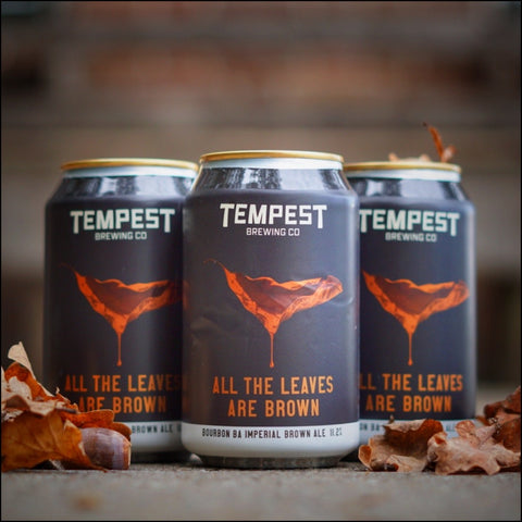 Tempest brewing company. All the leaves are Brown.