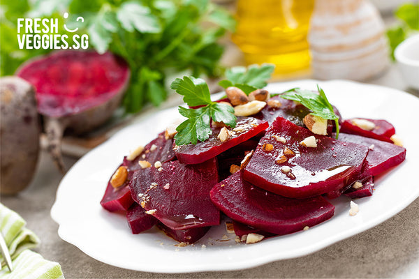 Fresh Veggies SG Fresh Vegetables Online Delivery in Singapore-Beetroot Boil add walnut and olive oil and herbs-5 Healthy Ways to Enjoy your Beets!