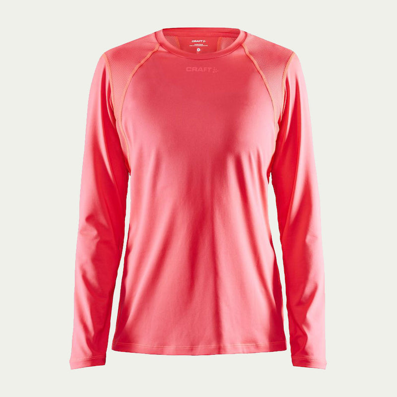Craft Women's Essence LS Tee Pink AW20
