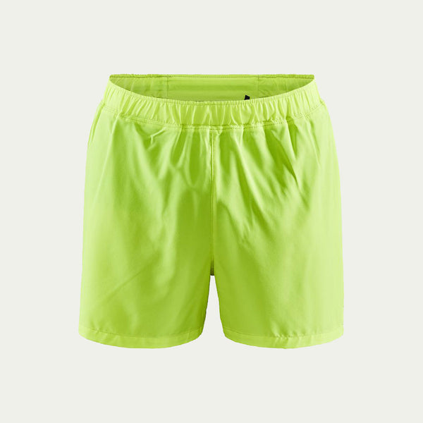 "Craft Men's Essence 5"" Stretch Shorts Yellow AW20"