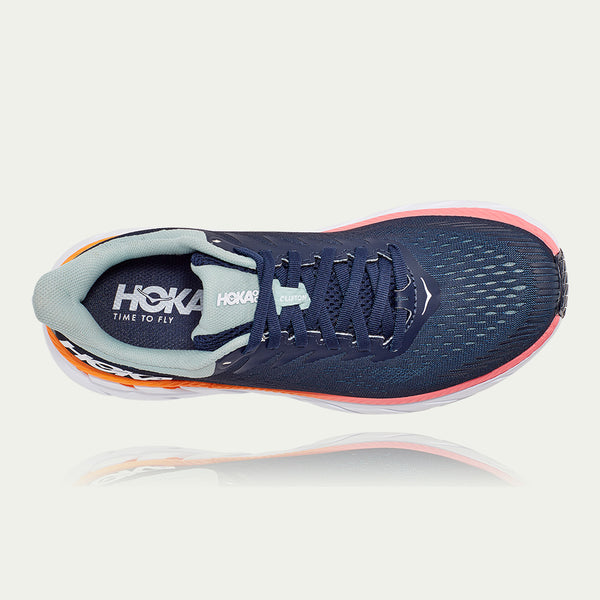 Hoka Ladies Clifton 7 Wide Fit AW20 Blue