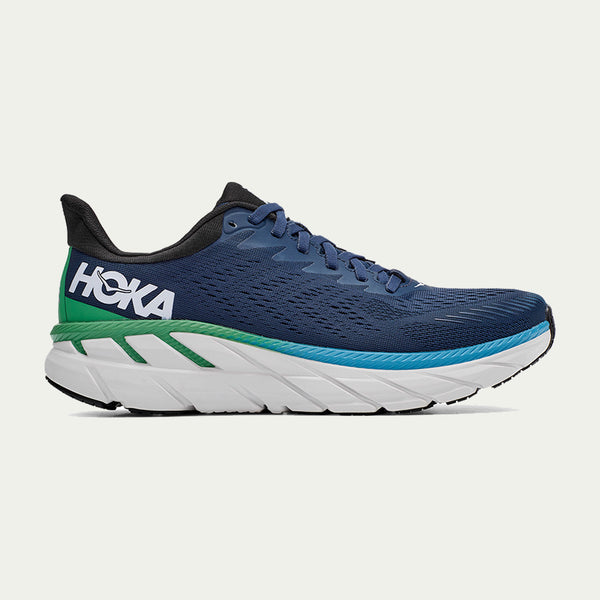Hoka Men's Clifton 7 Wide Fit AW20 Blue