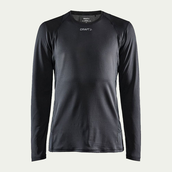 Craft Men's Essence LS Tee Black AW20