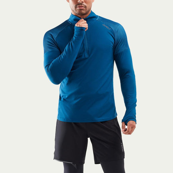 2XU Men's GHST 1/2 Zip LS Top AW20