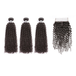 HJ Weave Beauty 8A Brazilian Virgin Hair Kinky Curly Bundle Deal