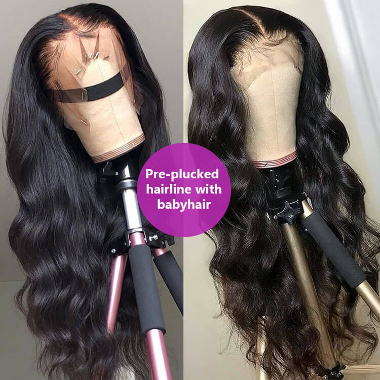 Body Wave 13x4 Lace Closure Wig Human Hair Lace Wig