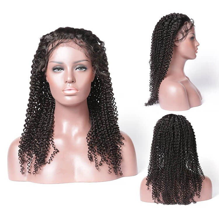 Kinky Curly 13x4 Lace Closure Wig Human Hair Lace Wig