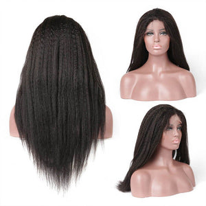 Kinky Straight 13x4 Lace Closure Wig Human Hair Lace Wig