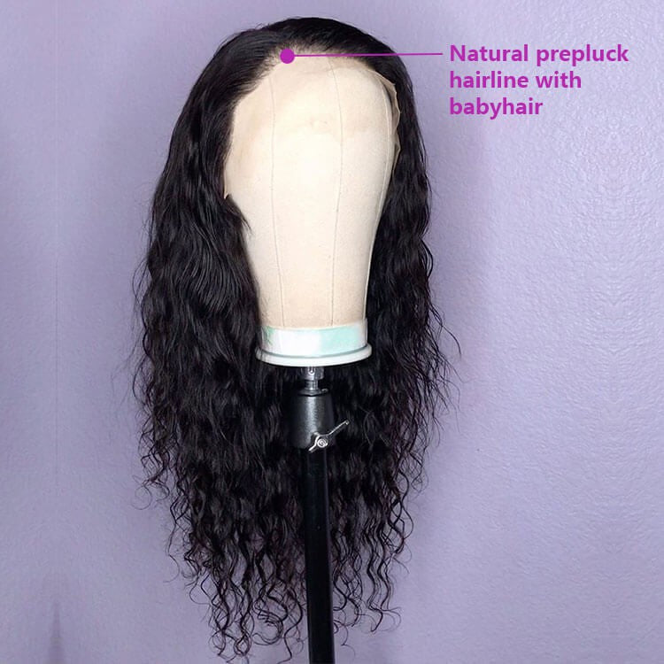 Natural Wave 13x4 Lace Closure Wig Human Hair Lace Wig