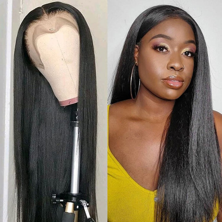 Straight 13x4 Lace Closure Wig Human Hair Lace Wig