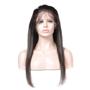 HJ Weave Beauty 360 Lace Frontal Human Hair Straight