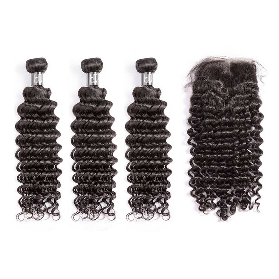 HJ Weave Beauty 7A Peruvian Virgin Hair Deep Wave