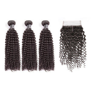 HJ Weave Beauty 7A European Virgin Hair Kinky Curly