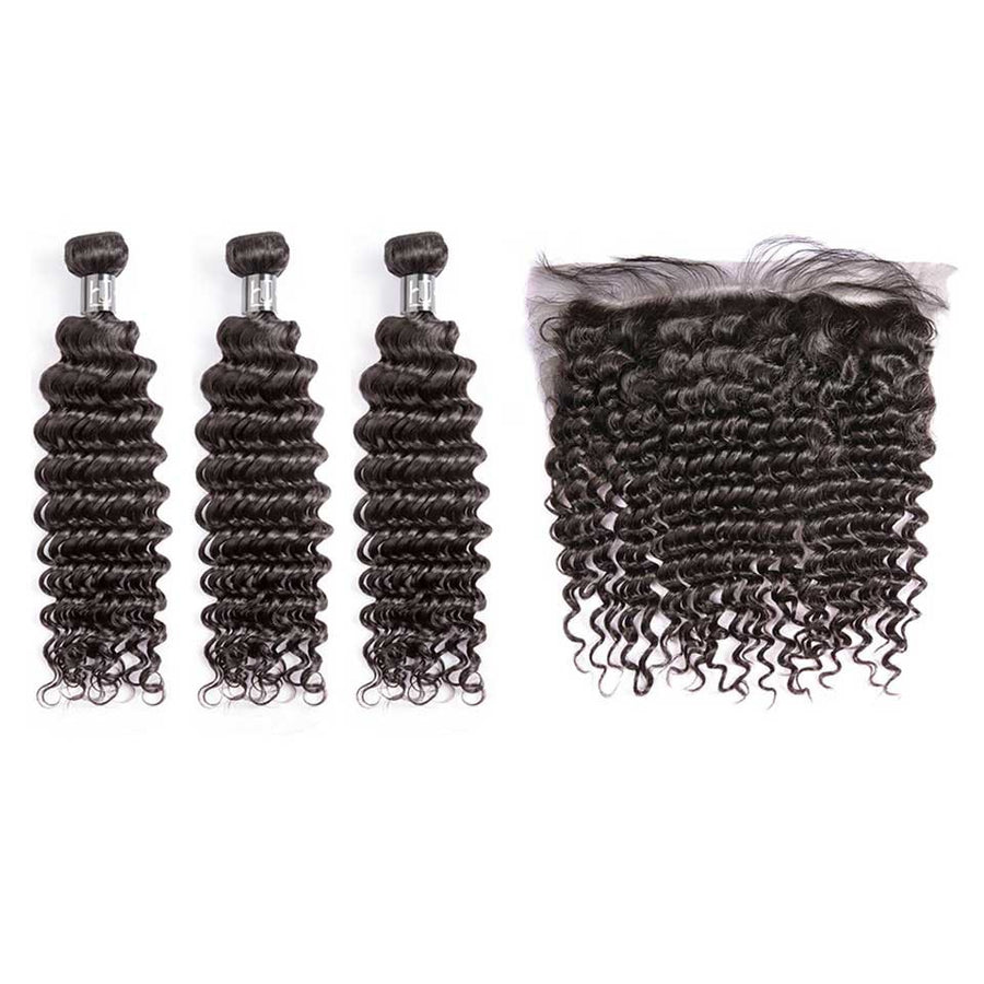 HJ Weave Beauty 7A Indian Virgin Hair Deep Wave
