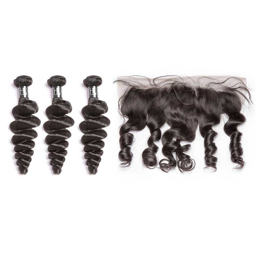 HJ Weave Beauty 7A Brazilian Virgin Hair Loose Wave Bundle Deal